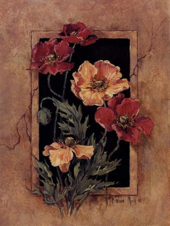 Framed Poppies by Barbara Mock