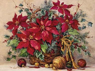 Holiday Poinsettia Basket by Barbara Mock