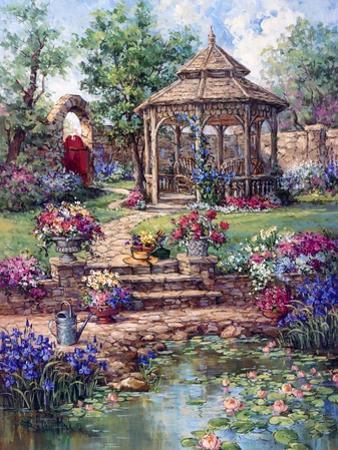 Red Garden Gate by Barbara Mock