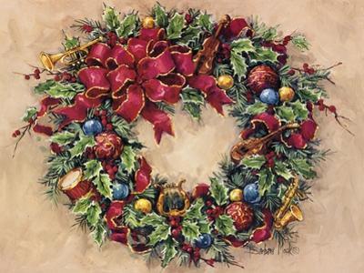 Tis The Season Wreath by Barbara Mock