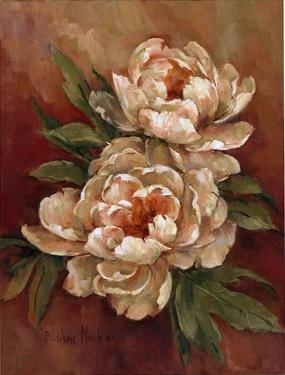 White Peonies I by Barbara Mock