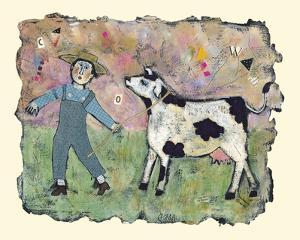 Boy and Cow by Barbara Olsen