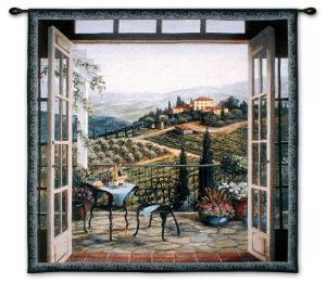 Balcony View of the Villa by Barbara R. Felisky