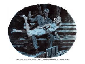 "Never Spank a Blonde  - Saturday Evening Post ""Leading Ladies"", August 11, 1945 pg.21 by Barbara Schwinn"