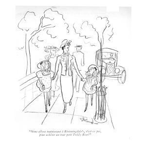 """""""Nous allons maintenant à Bloomingdale's, n'est-ce pas, pour achêter un to… by Barbara Shermund"""