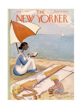 The New Yorker Cover - August 5, 1944 by Barbara Shermund