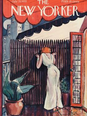 The New Yorker Cover - July 29, 1933 by Barbara Shermund