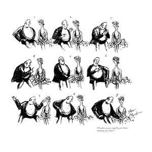 """You're a very intelligent little woman, my dear."" - New Yorker Cartoon by Barbara Shermund"