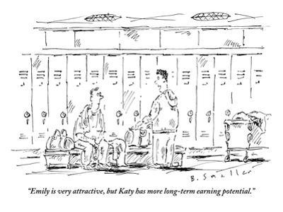 """""""Emily is very attractive, but Katy has more long-term earning potential."""" - New Yorker Cartoon"""