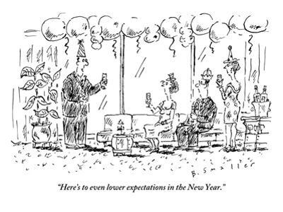 """""""Here's to even lower expectations in the New Year."""" - New Yorker Cartoon"""