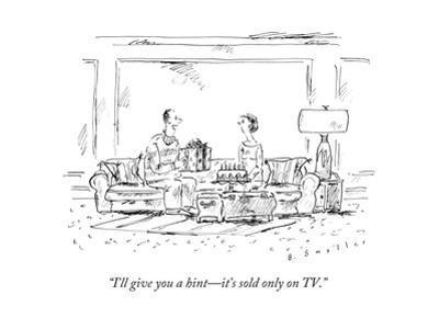"""I'll give you a hint—it's sold only on TV."" - New Yorker Cartoon"