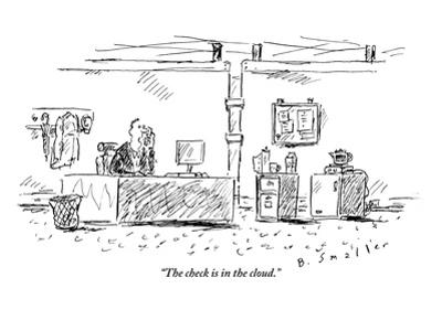 """""""The check is in the cloud."""" - New Yorker Cartoon"""