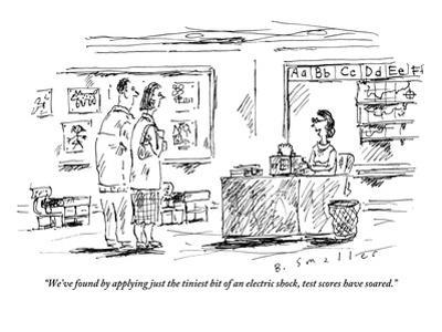 """""""We've found by applying just the tiniest bit of an electric shock, test s…"""" - New Yorker Cartoon"""