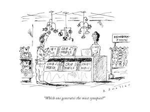 """""""Which one generates the most synapses?"""" - New Yorker Cartoon by Barbara Smaller"""