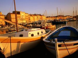 Boats at Port, St. Tropez, France by Barbara Van Zanten