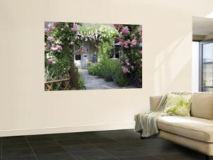 Cafe Les Nymphias in Giverny, Opposite the Entrance to Monet's Gardens by Barbara Van Zanten
