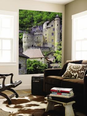 Castle of Laroque-Toirac on Steep Cliff Face by Barbara Van Zanten