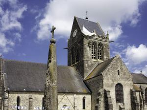 Church at Ste Mere Eglise, One of the First Towns Liberated During the D-Day Landings by Barbara Van Zanten