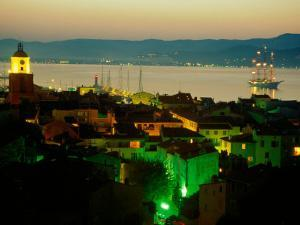 Evening Over Town and Golf St. Tropez, St. Tropez, France by Barbara Van Zanten