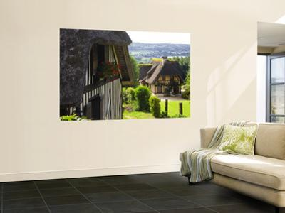 Half-Timbered Houses Overlooking the Touques Valley, Pays D'Auge by Barbara Van Zanten