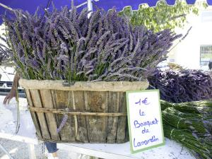 Lavender for Sale at 1 Euro a Bunch, at the Twice Weekly Famrer's Market in Coustellet by Barbara Van Zanten