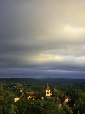 Morning Storm Clouds over Village of Carennac by Barbara Van Zanten