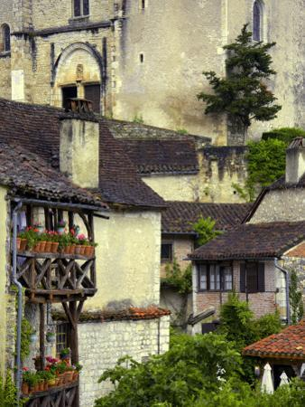 Old Houses with Wooden Balconies and Tiled Roofs by Barbara Van Zanten
