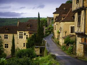 Old Pilgrims' Road Leading Through the Rocamadour Arch Just Visible in the Background by Barbara Van Zanten