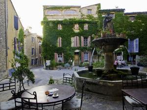 Place De La Fontaine in the Hilltop Village of Saignon by Barbara Van Zanten