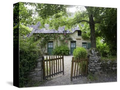 Thatched Cottage with Green Doors in Restored Village of Kerhinet, Briere National Park by Barbara Van Zanten