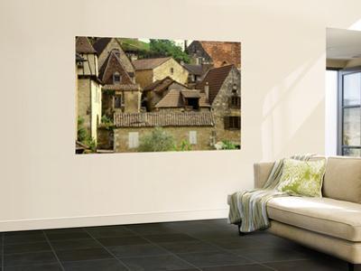 Village Houses and Roofs of Castelnaud Village by Barbara Van Zanten
