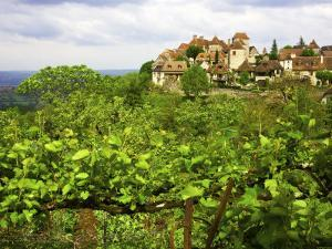 Village on Rocky Spur Overlooking the Bave Valley by Barbara Van Zanten