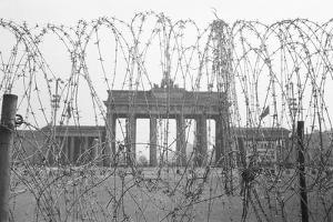 Barbed Wire and Brandenburg Gate