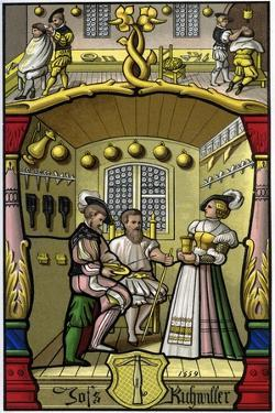 Barber and Wigmaker, 16th Century by H Moulin