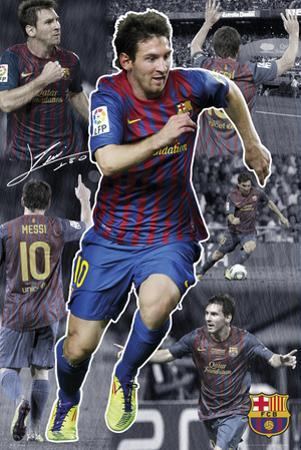 Barcelona-Messi Collage