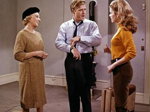 BAREFOOT IN THE PARK, 1967 directed by GENE SACHS Mildred Natwick, Robert Redford and Jane Fonda (p