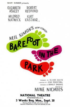 Barefoot in the Park - Broadway Poster , 1963