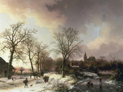 Figures in a Winter Landscape, 1842