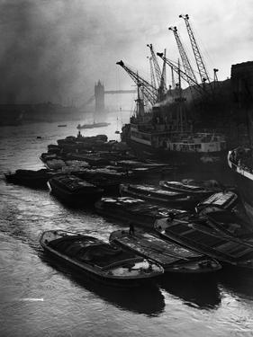 Barges Moored at Hays Wharf