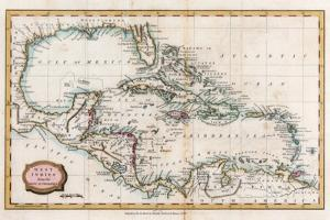 Map of the West Indies, 18th Century by Barlow