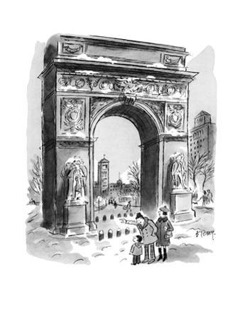 """Just like you, David. He was born in February, too!"" - New Yorker Cartoon"