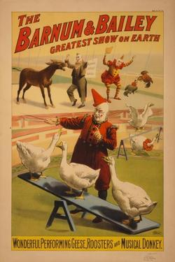 Barnum and Bailey Circus poster, c.1900