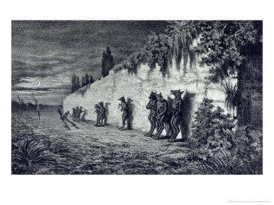 """Werewolves, Illustration for """"Legendes Rustiques"""" 1858"""