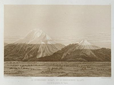 T.1593 Mt. Chimborazo and Mt. Carguairazo, Drawn by Hildebrandt after a Sketch by Humboldt,…