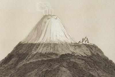 T.1594 Cotopaxi, Drawn by Stock from a Sketch by Humboldt, Engraved by Edmond Lebel (1834-1908)…