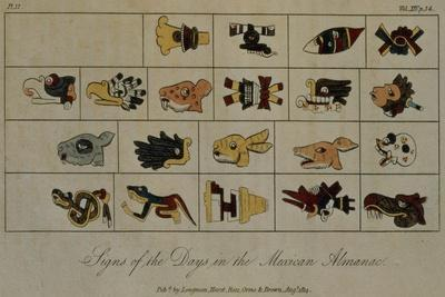 T.1602 Signs of the Days in the Mexican Almanac, from Vol II of 'Researches Concerning the…
