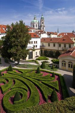 Baroque Garden of Vrtba Palace at Prague Lesser Town, Central Bohemia, Czech Republic