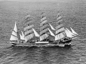 Barque Pamir in the English Channel after a 13,000 Mile Journey from Wellington, New Zealand