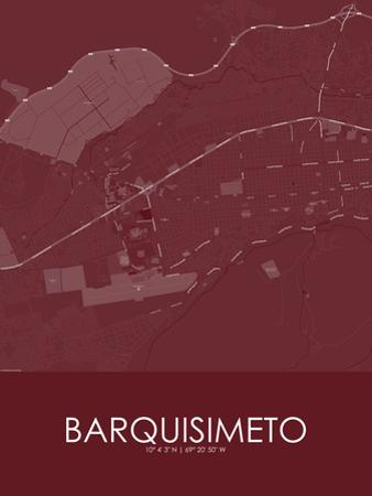 Barquisimeto, Venezuela(Bolivarian Republic of) Red Map