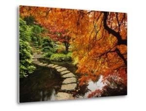 Autumn Colors in Butchart Gardens, Victoria, Vancouver Island, British Columbia, Canada by Barrett & Mackay